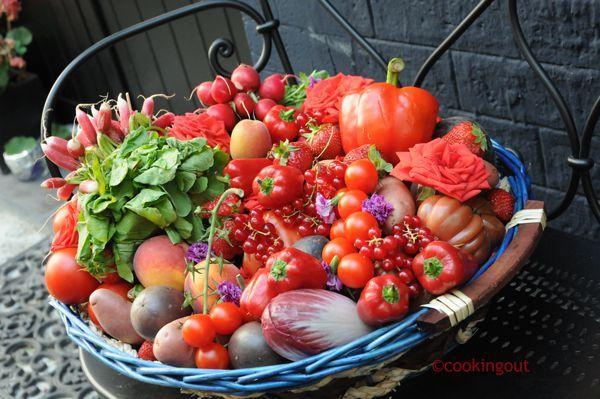 fruits et légumes rouges
